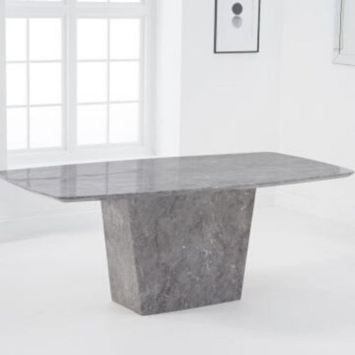 Fariah 200cm Marble Dining Table - Grey - The Home Collections