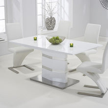 Load image into Gallery viewer, Springfield High Gloss 160cm White Dining Table - The Home Collections