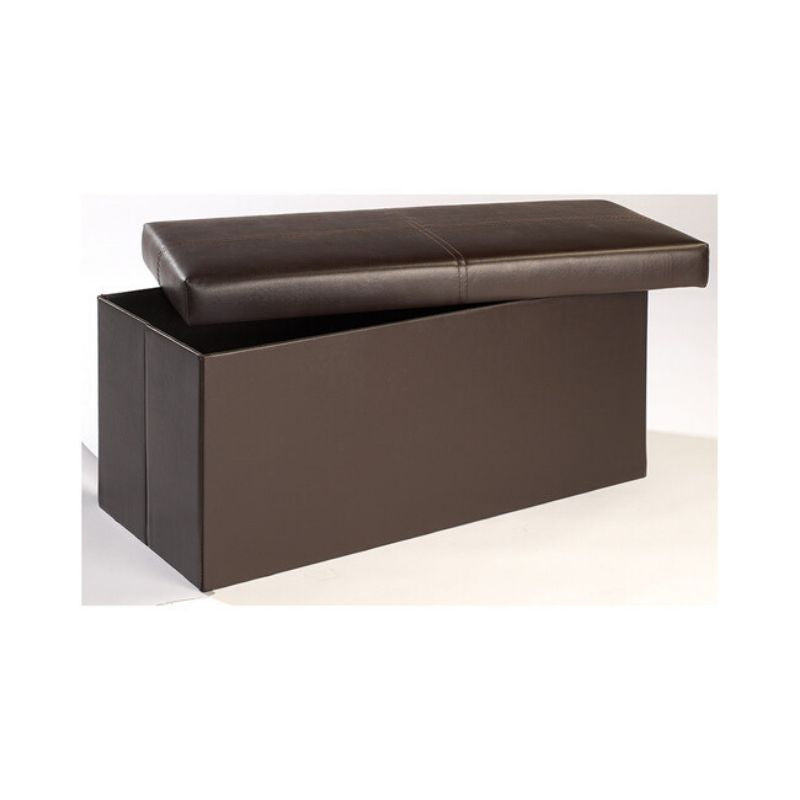 Madrid Storage Ottoman Large Brown - The Home Collections
