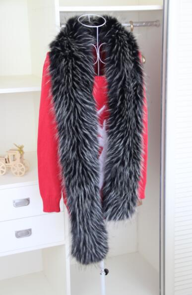 185cm Super long high quality faux fur scarf BOA fake fur striped faux raccoon imitation fox fur muffler shawl cool fur stole - Olanquan Fashion Boutique