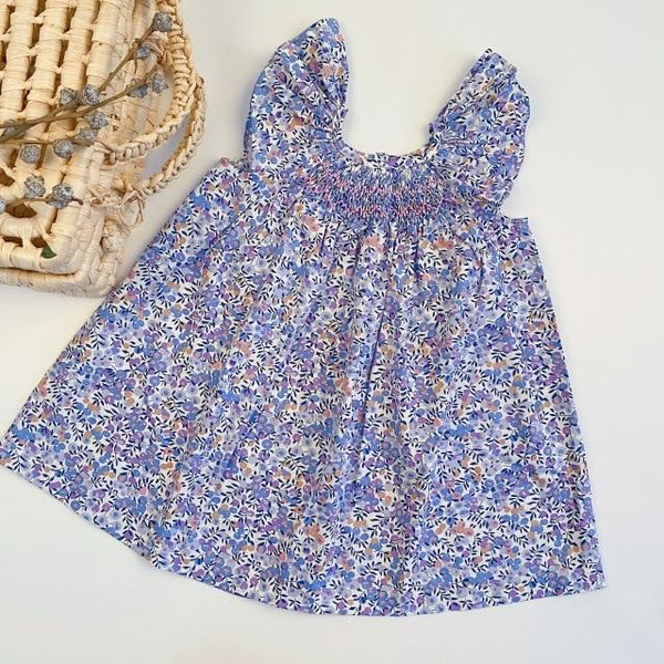 Baby Girls Dresses 2020 Ins European & America Toddler Kids Girl Dress Brand Cotton Summer Linen Clothings Princess Girl Clothes - Olanquan Fashion Boutique