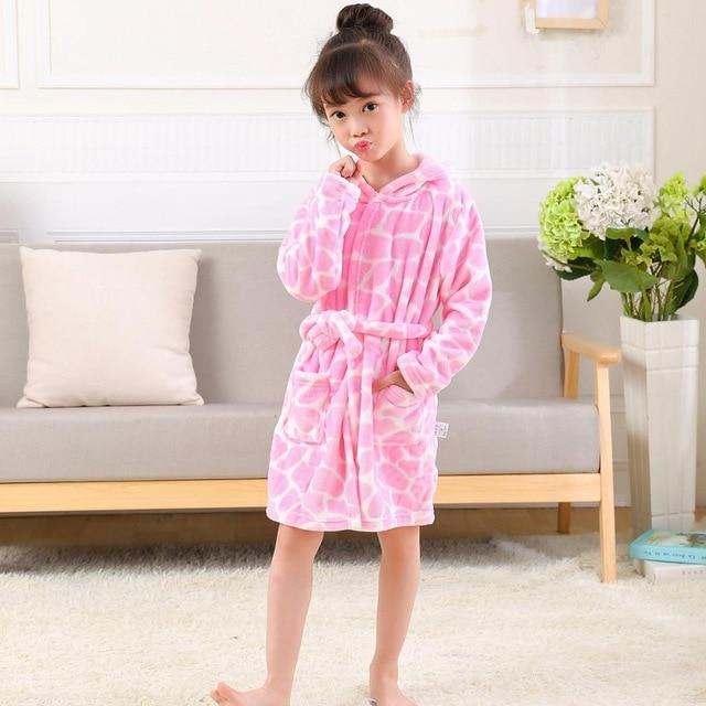 Children Bath Robes Flannel Winter Kids Sleepwear Robe Infant Pijamas Nightgown For Boys Girls Pajamas 10-2 Years Baby Clothes - Olanquan Fashion Boutique