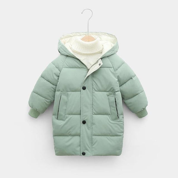 Children's Down Coat Winter Teenage Baby Boys Girls Cotton-padded Parka & Coats Thicken Warm Long Jackets Toddler Kids Outerwear - Olanquan Fashion Boutique