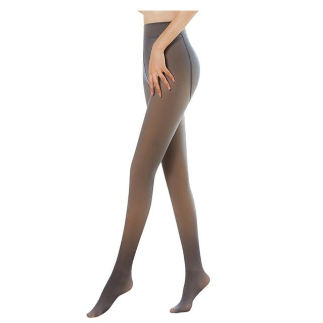 Flawless Legs Fake Translucent Warm Fleece Pantyhose Black/gray/coffee/original Stockings Sexy Seamless Superelastic Pantyhose - Olanquan Fashion Boutique