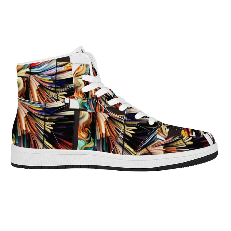 High Top Leather Sneakers - Olanquan Fashion Boutique