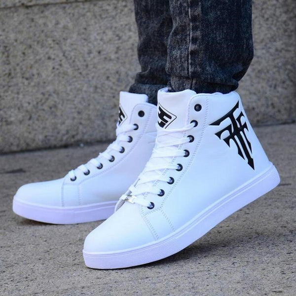 High Top Sneakers Men Casual Shoes Lace Up Trainers Male White Sneakers Breathable Tenis Casual Sneakers Men Zapatillas Hombre - Olanquan's Fashion Boutiques