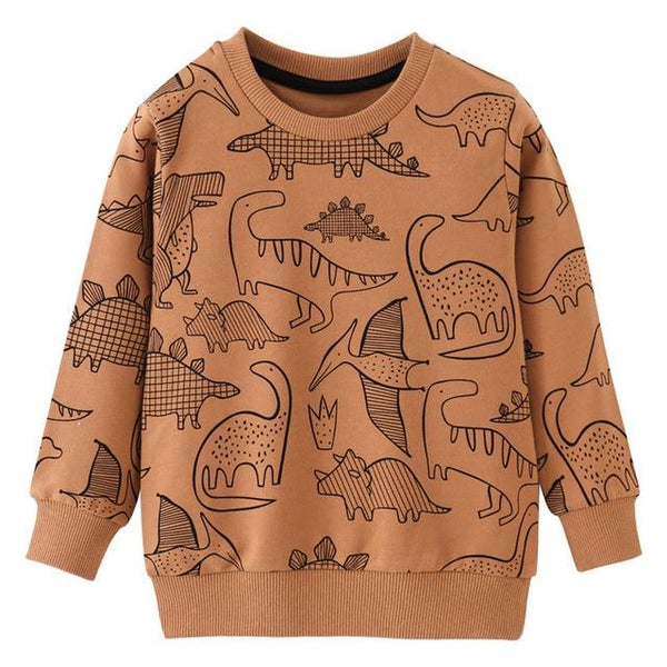 Jumping Meters Baby Boys Sweatshirts Cartoon Autumn Winter Long Sleeve Looped Tops Boys Girls Shirts Cotton Kids Clothes - Olanquan Fashion Boutique