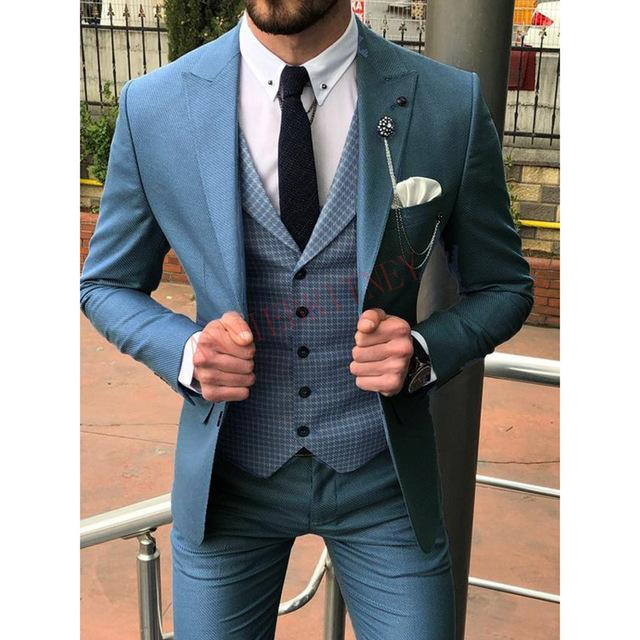 Latest Coat Pant Designs Double Breasted Men Suit Slim Fit Fashion Wedding Suits for Men Prom Groom Tuxedo Jacket with Pants Set - Olanquan's Fashion Boutiques