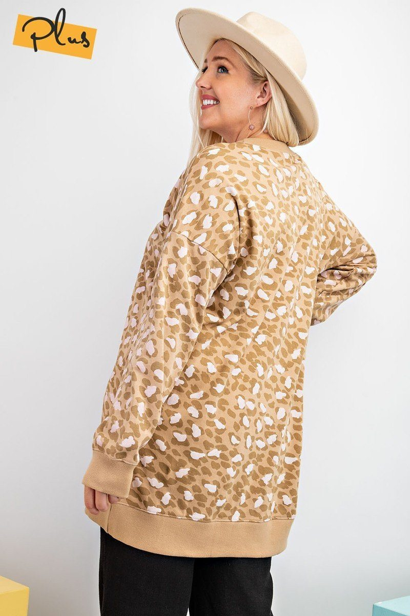 Leopard Printed Terry Knit Dress - Olanquan's Fashion Boutiques