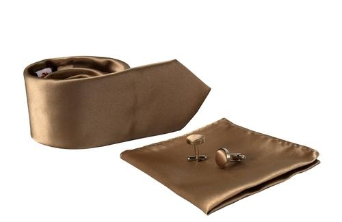 Luxurious Mens Silk Feel Solid Necktie Cufflinks Handkerchief Set - Olanquan's Fashion Boutiques