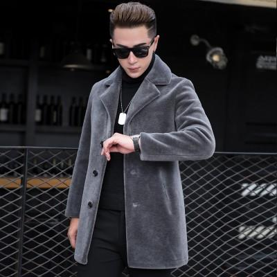 Luxury Shearling Men Overcoat Business Casual Slim Real Fur Sheep Shearing Hooded Long Coat Brand Winter Blazer Coat Plus Size - Olanquan's Fashion Boutiques