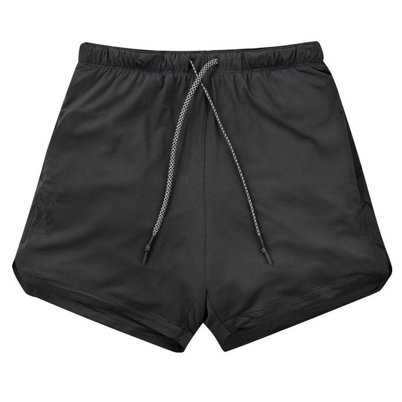 Men 2 in 1 Running Shorts Jogging Gym Fitness - Olanquan's Fashion Boutiques