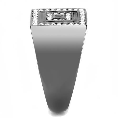 Men Stainless Steel Synthetic Crystal Rings TK3220 - Olanquan's Fashion Boutiques