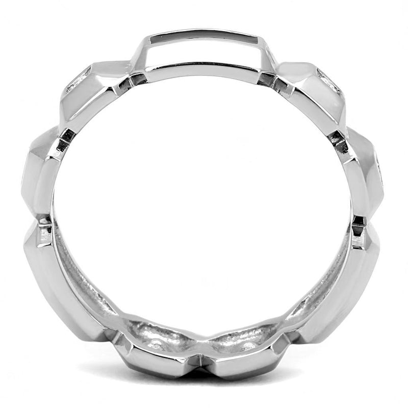 Men Stainless Steel Synthetic Crystal Rings TK3281 - Olanquan's Fashion Boutiques