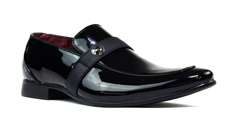Men's Insignia Slip On Black Shiny - Olanquan's Fashion Boutiques