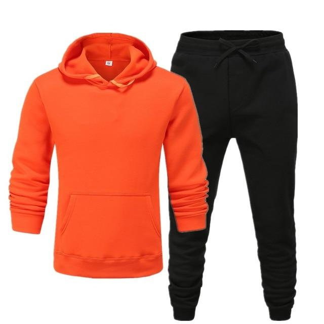 Men's Sets Fashion Sportswear Tracksuits Sets Men's Clothes Sporting Hoodies+Pants Sets casual Outwear sports Suits men Hoodie S - Olanquan's Fashion Boutiques
