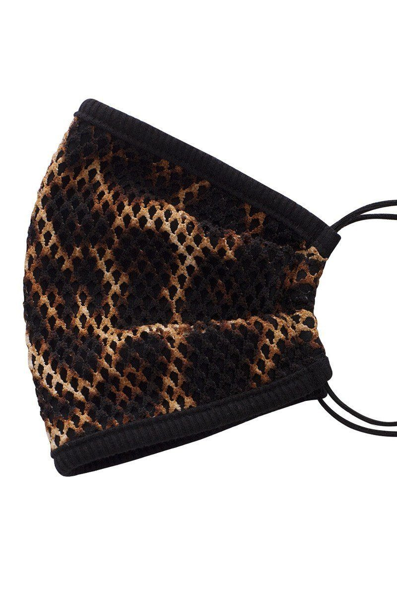 Mesh Leopard And Camouflauge Print Face Mask - Olanquan's Fashion Boutiques