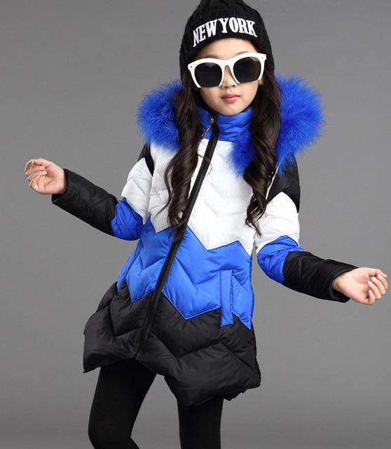 New Girls Warm Winter Coat Artificial Fur Fashion Kids Hooded Jacket Coat for Girl Outerwear Girls Clothes 3-12 Years - Olanquan Fashion Boutique