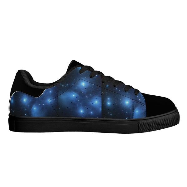 Olanquan Black Low Top Leather Sneakers - Olanquan Fashion Boutique