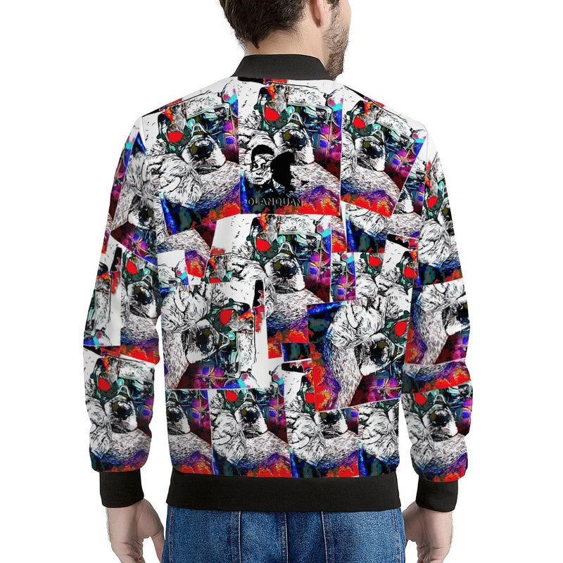 Olanquan Multi-color Sweater Men's Bomber Jacket - Olanquan Fashion Boutique