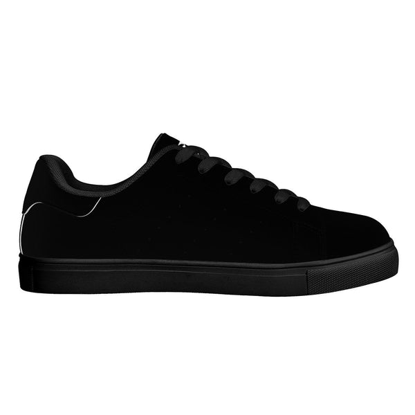 Olanquan Sneakers Black Low Top Leather Sneakers - Olanquan's Fashion Boutiques