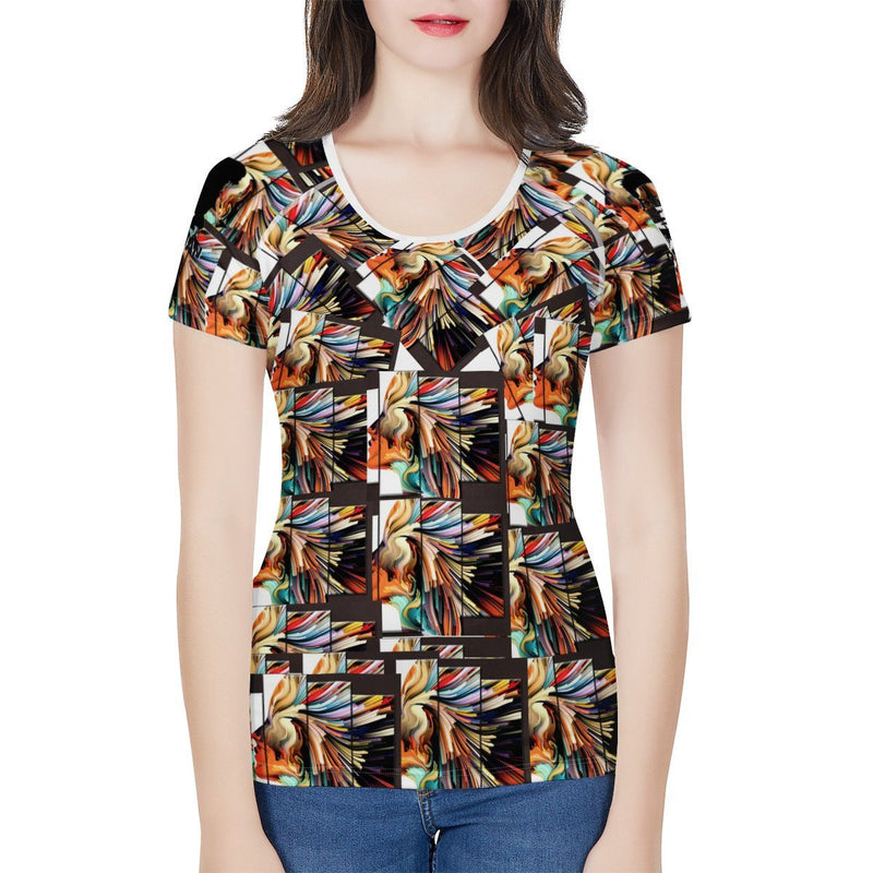 Olanquan Women's All-Over Print T shirt - Olanquan Fashion Boutique