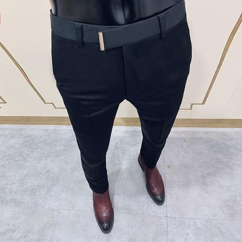 Pantalon Hombre Hot Street Clothing Men Pants Business Slim Dress Men's Pants 2020 Spring New Korean Version Solid Suit Pant Men - Olanquan's Fashion Boutiques