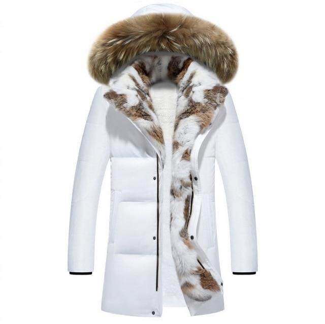 PYJTRL Young Men's And Women's Medium Long Lovers Down Jacket - Olanquan Fashion Boutique