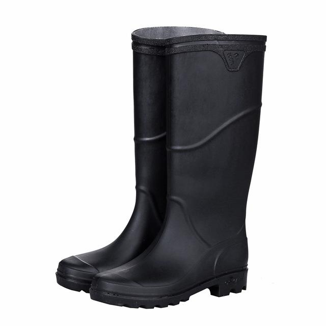 Rain Boots Men bot Winter Fishing Boots Work Antiskid Rubber Shoes Warm galoshes Waterproof Shoes Rain Shoes Snow Boots 2019 - Olanquan's Fashion Boutiques