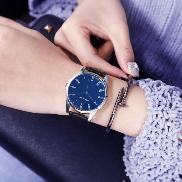 Rich Tree Couple Watch Fashion Simple Men and Women 40mm30mm Blue Dial Belt Watch Trend Fashion Noble Brand Couple Watch - Olanquan's Fashion Boutiques