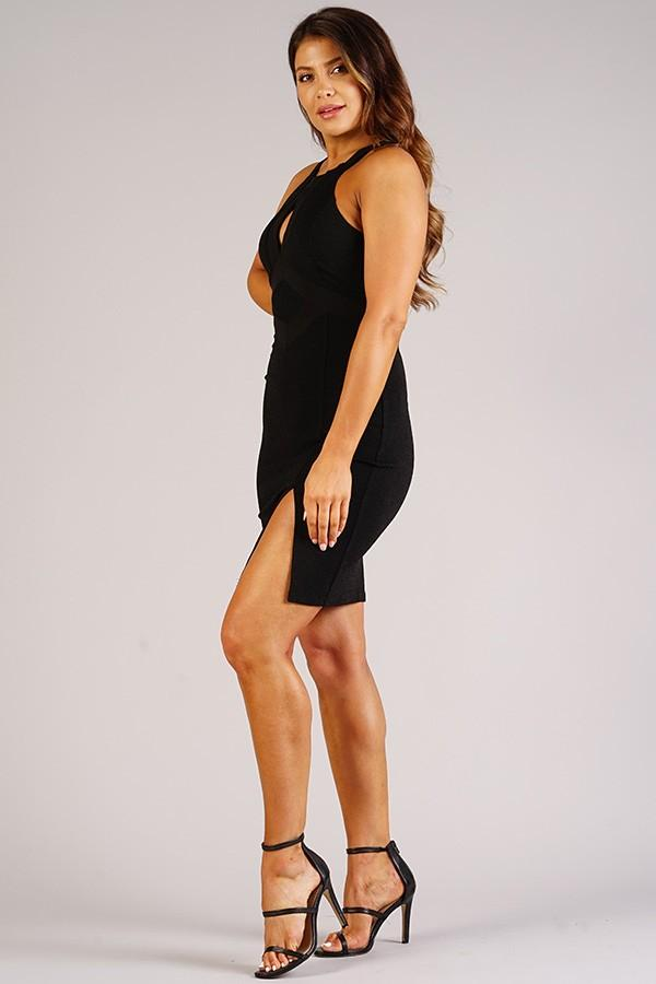 Sexy Holiday Halter Dress With Keyhole Detail - Olanquan's Fashion Boutiques