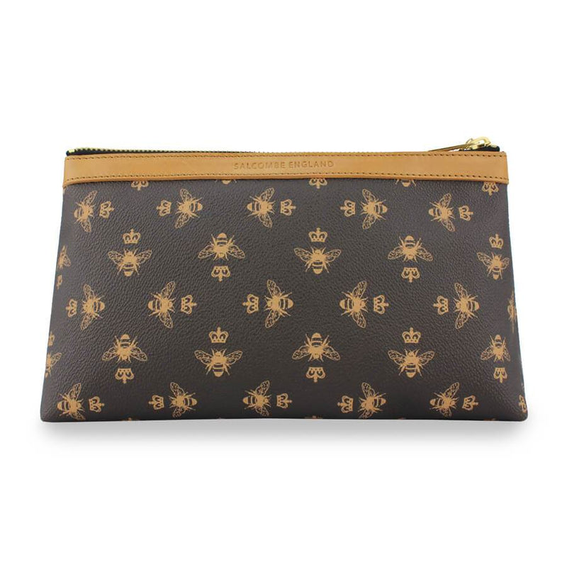 Signature Cosmetic Bag - Brown - Olanquan's Fashion Boutiques