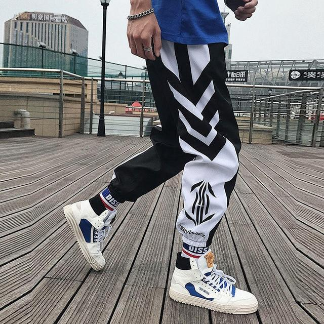 Streetwear Hip hop Joggers Pants Men Loose Harem Pants Ankle Length Trousers Sport Casual Sweatpants White Techwear - Olanquan's Fashion Boutiques