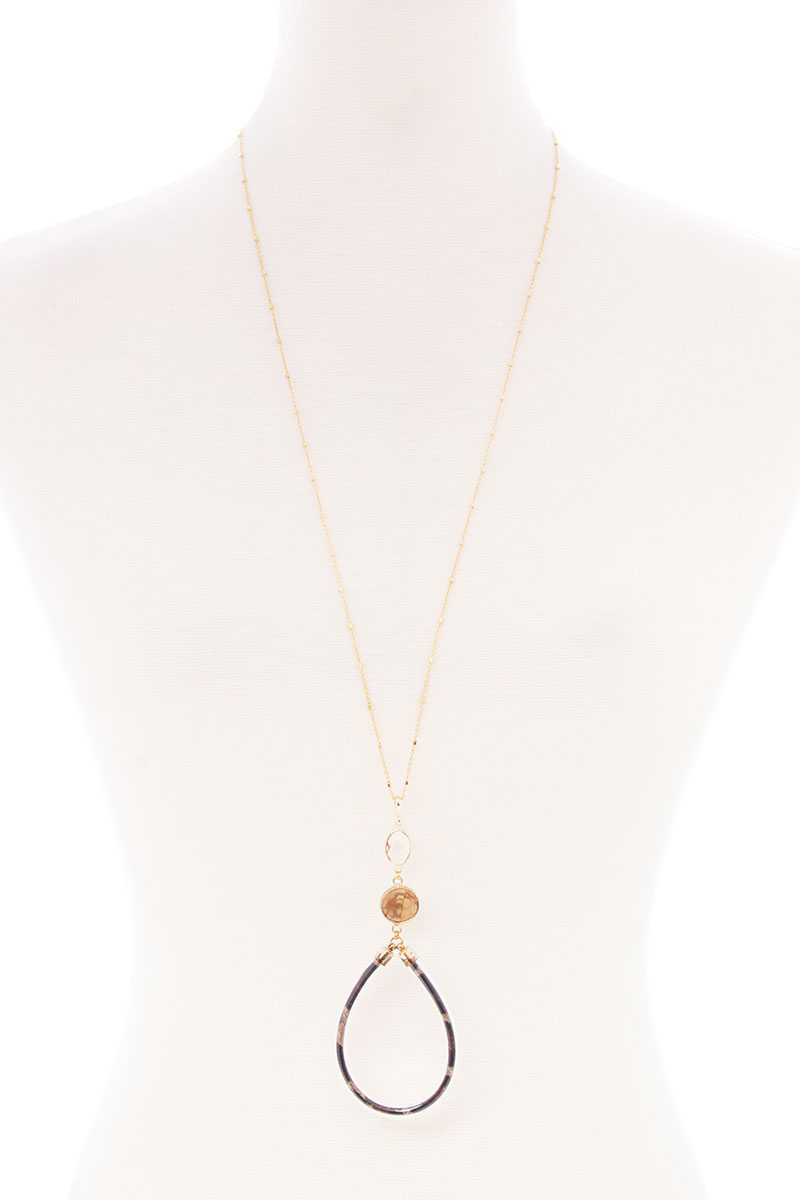 Teardrop Pendant Long Necklace - Olanquan's Fashion Boutiques