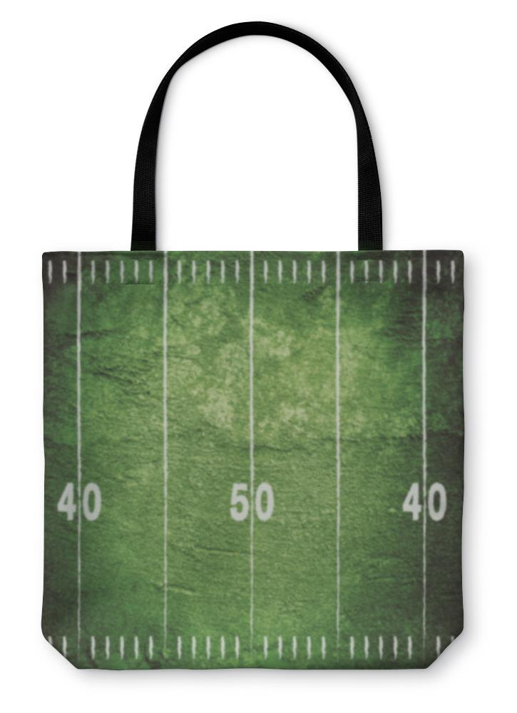 Tote Bag, Grunge Football Field - Olanquan's Fashion Boutiques