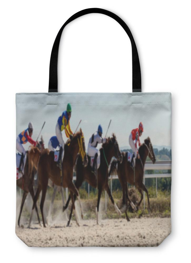 Tote Bag, Horse Racing In Pyatigorsk - Olanquan's Fashion Boutiques