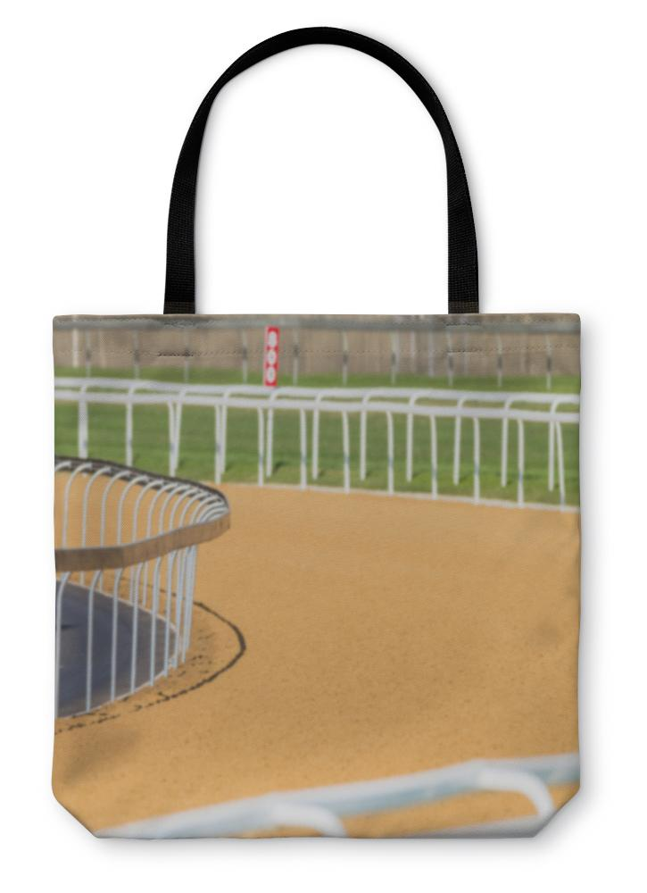 Tote Bag, Horse Racing Poly Sand Grasstracks - Olanquan's Fashion Boutiques