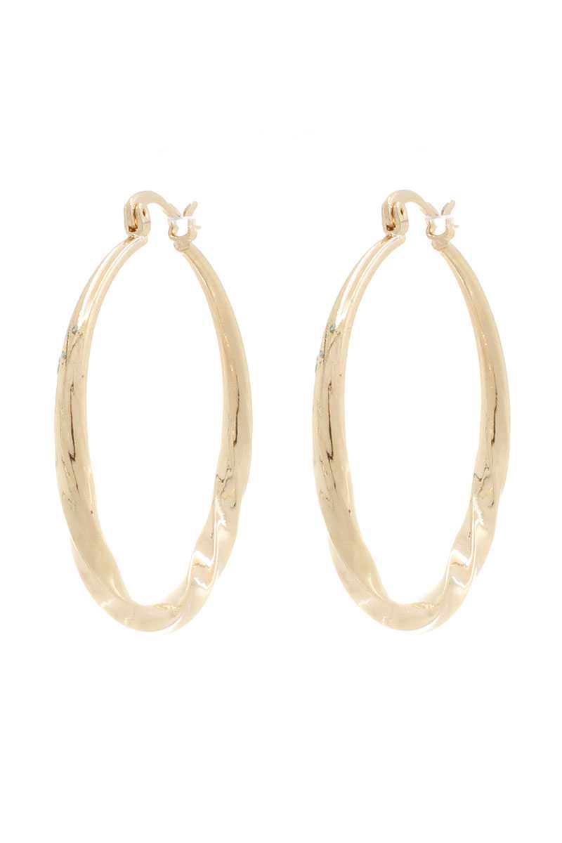 Twist Metal Hoop Earring - Olanquan's Fashion Boutiques