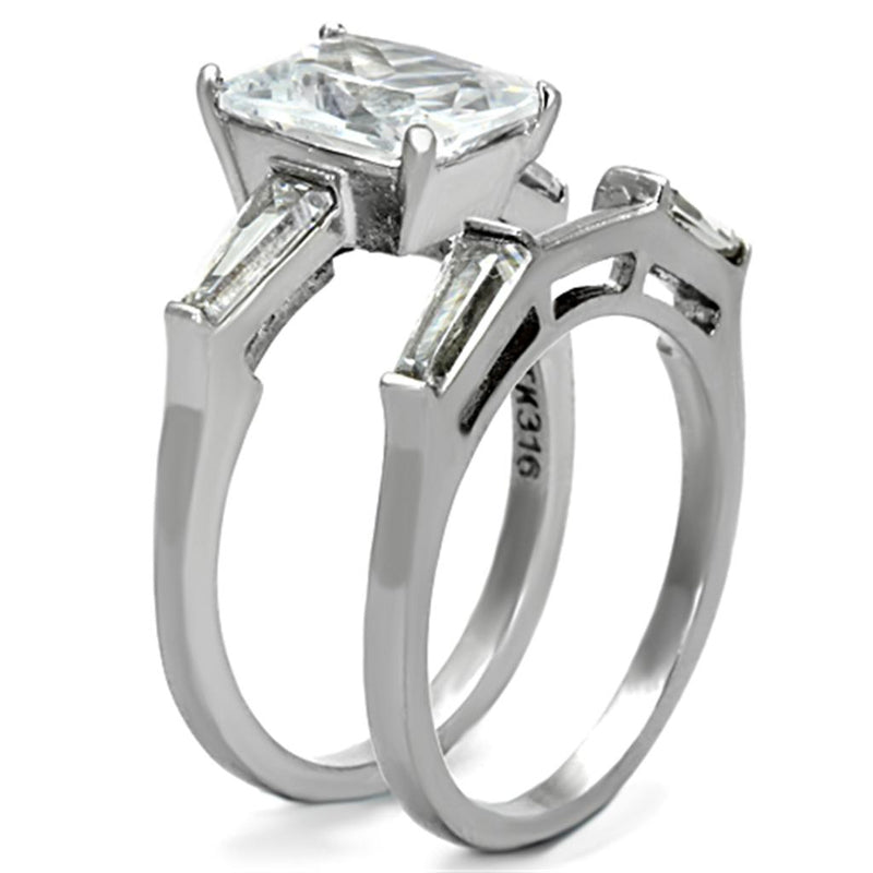 Women Stainless Steel Cubic Zirconia Rings TK1229 - Olanquan's Fashion Boutiques