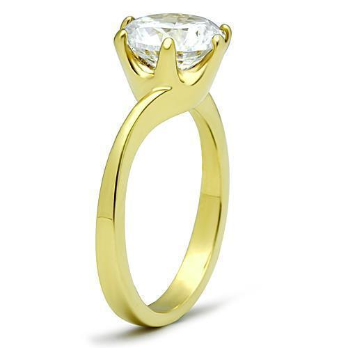 Women Stainless Steel Cubic Zirconia Rings TK1406 - Olanquan's Fashion Boutiques