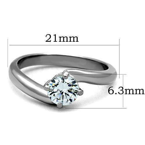 Women Stainless Steel Cubic Zirconia Rings TK1543 - Olanquan's Fashion Boutiques
