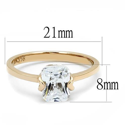 Women Stainless Steel Cubic Zirconia Rings TK3179 - Olanquan's Fashion Boutiques
