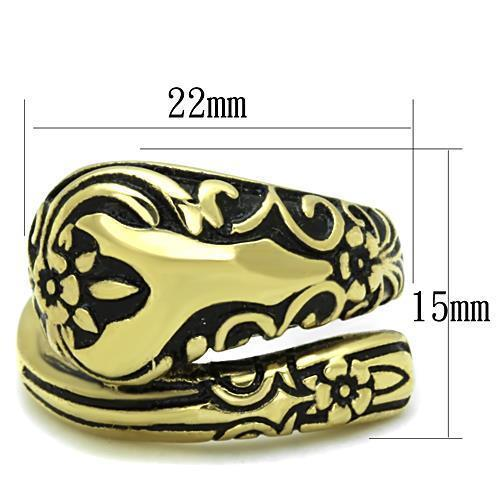 Women Stainless Steel Epoxy Rings TK1713 - Olanquan's Fashion Boutiques