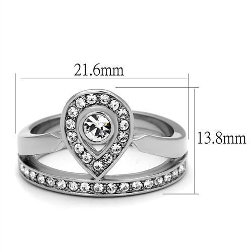 Women Stainless Steel Synthetic Crystal Rings - Olanquan's Fashion Boutiques
