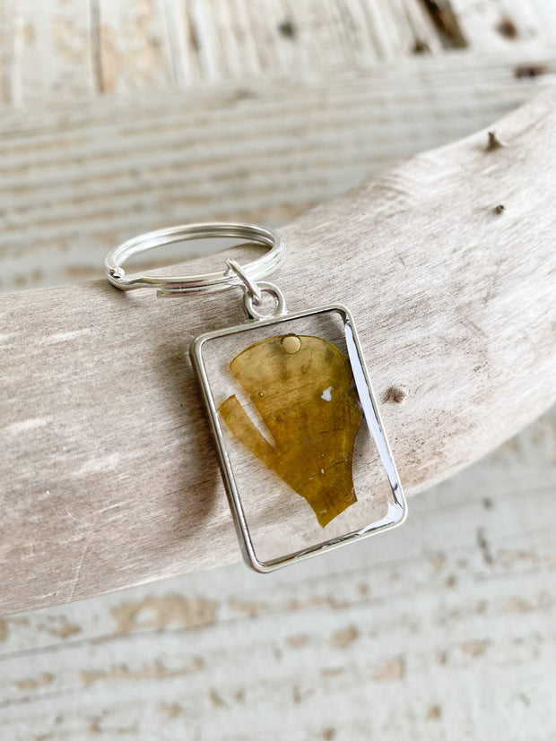Silver Rectangle Resin Keychain - Padina