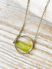 "30"" Framed Circle Pendant Necklace - Ulva"