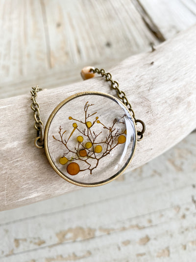 "30"" Framed Circle Pendant Necklace - Sargassum"