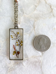 "30"" Framed Rectangle Pendant Necklace - Sargassum"