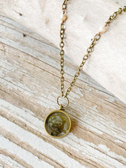 "30"" Framed Circle Pendant Necklace - Padina"