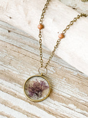 "30"" Framed Circle Pendant Necklace - Centroceras"
